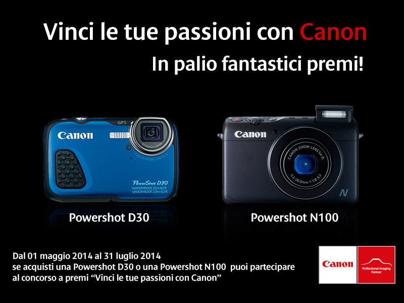vinci le tue passioni con Canon