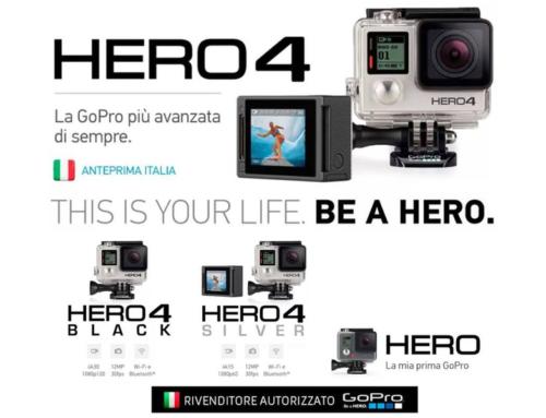Da Black&White le nuove GoPro Hero 4