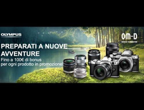 Olympus, Fino a 100€ di bonus per ogni prodotto in promozione!