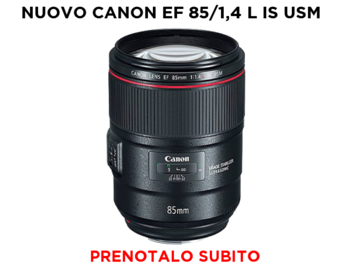 NUOVO CANON EF 85/1,4 L IS USM