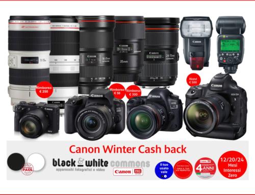 Canon Winter Cash back: fino a 250 euro di rimborso